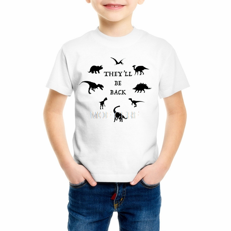 Kids Boys Girls Short Sleeve <font><b>Tshirt</b></font> <font><b>Dinosaur</b></font> Print Kids Clothes T-shirt Children Casual Tee Tops T Shirts Good Quality Z6-11 image