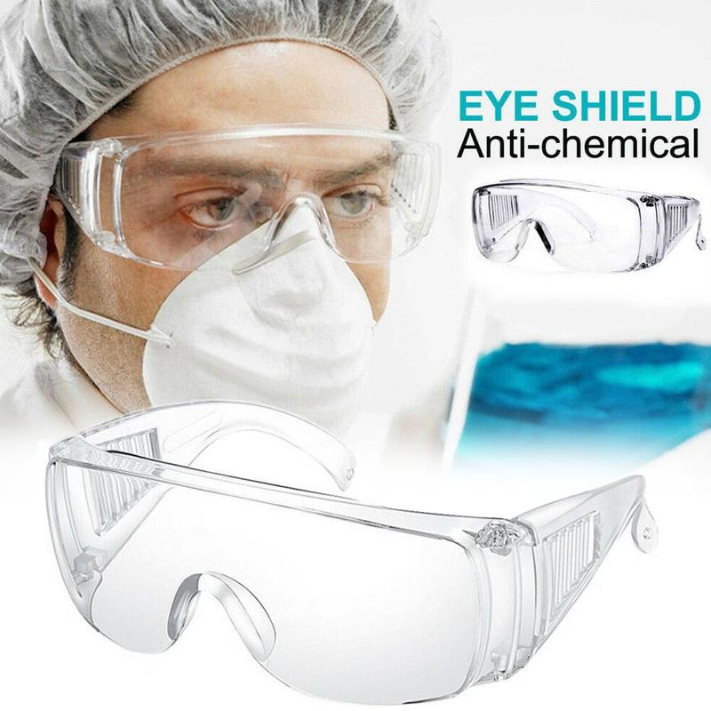 New Clear Vented Safety Goggles Eye Protection Protective Lab Anti Fog Glasses Workplace Medical Face Safety Goggles Eyes