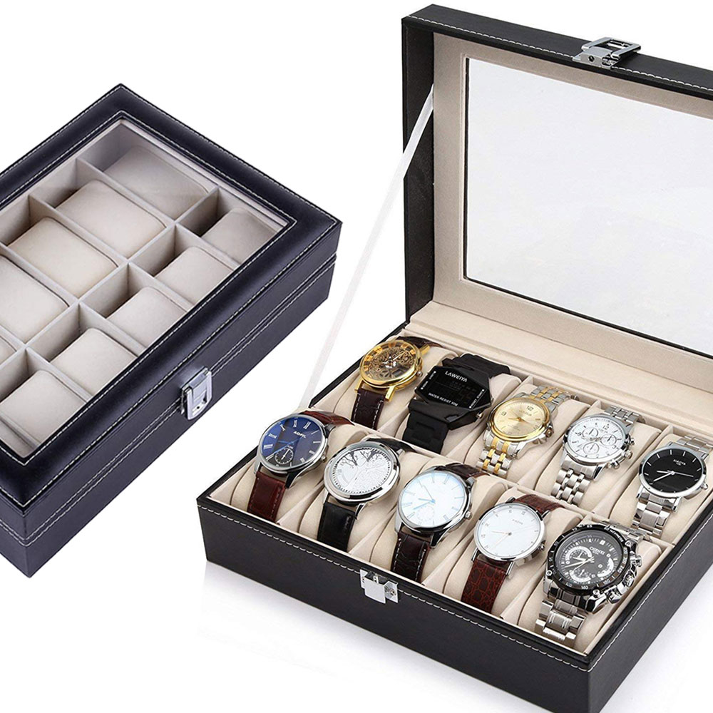 Watches, Glass, Organizer, Storage, Leather, Top