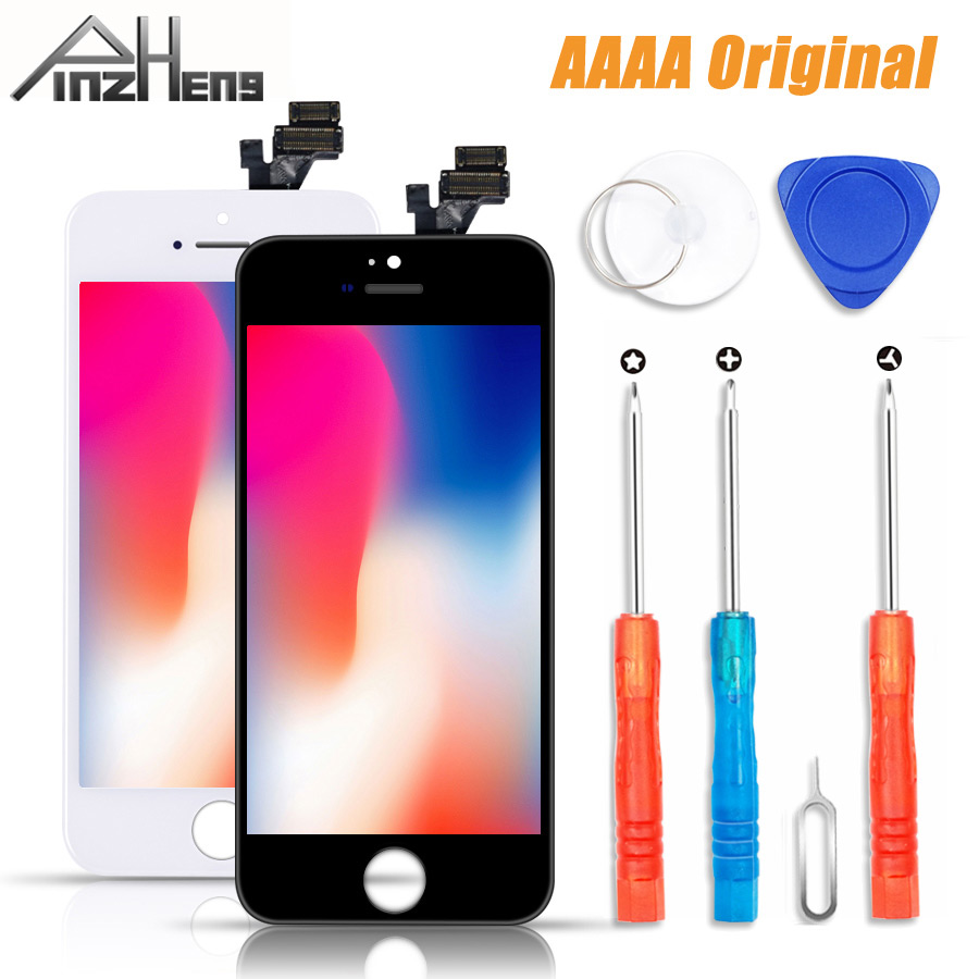 PINZHENG 100% AAAA <font><b>Original</b></font> LCD Screen Für <font><b>iPhone</b></font> <font><b>5</b></font> S <font><b>5</b></font> SE 5C Bildschirm LCD <font><b>Display</b></font> Digitizer Touch Modul <font><b>5</b></font> S SE Bildschirme Ersatz image