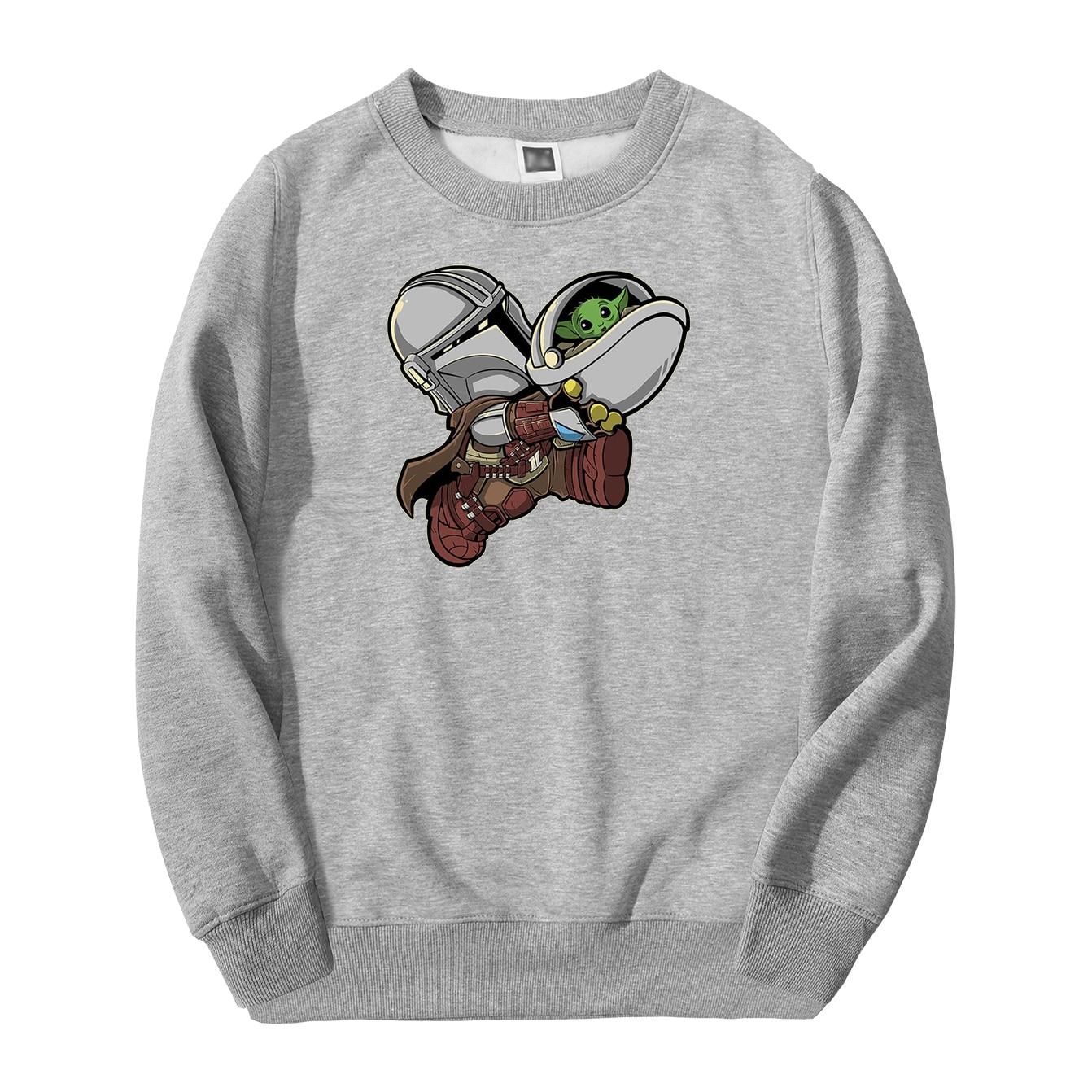The Mandalorian Star Wars Men Sweatshirt Hoodies 2020 Spring Autumn Casual Cute Baby Yoda Streetwear Loose Fit Fashoin Pullover