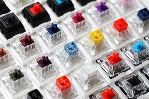 Image 3 - 81 switch switches tester with acrylic base blank keycaps for mechanical keyboard cherry kailh gateron outemu ice greetech box