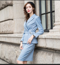 Suits For Women 2020 Autumn Winter Plaid Long Sleeve Blazer Top Skirt Two Piece Office Lady Business Work Female Uniform(China)