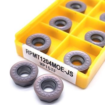 цена на 10Pcs Milling Tools RPMT1204 MOE VP15TF Carbide inserts Cutting Tool CNC Tools Lathe tools Lathe cutter