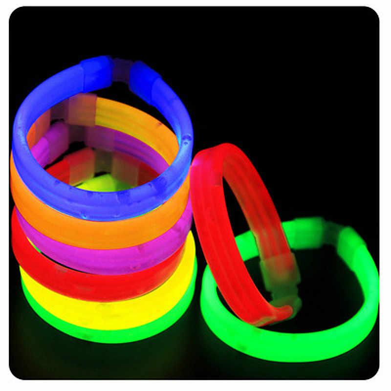 Festa di natale Al Neon di Luce bastone di Incandescenza Bastone Per Bambini Divertente Bastone di Incandescenza Giocattoli Glow in the Dark Fluorescente Braccialetto Giocattolo Per bambini