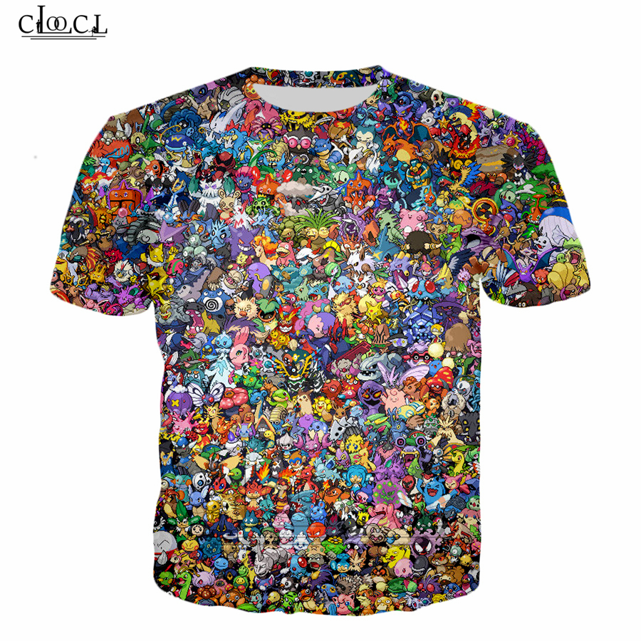 Latest Design Pokemon Men Women T-shirt Pikachu 3d Printing T-shirt Summer Casual Tops B102