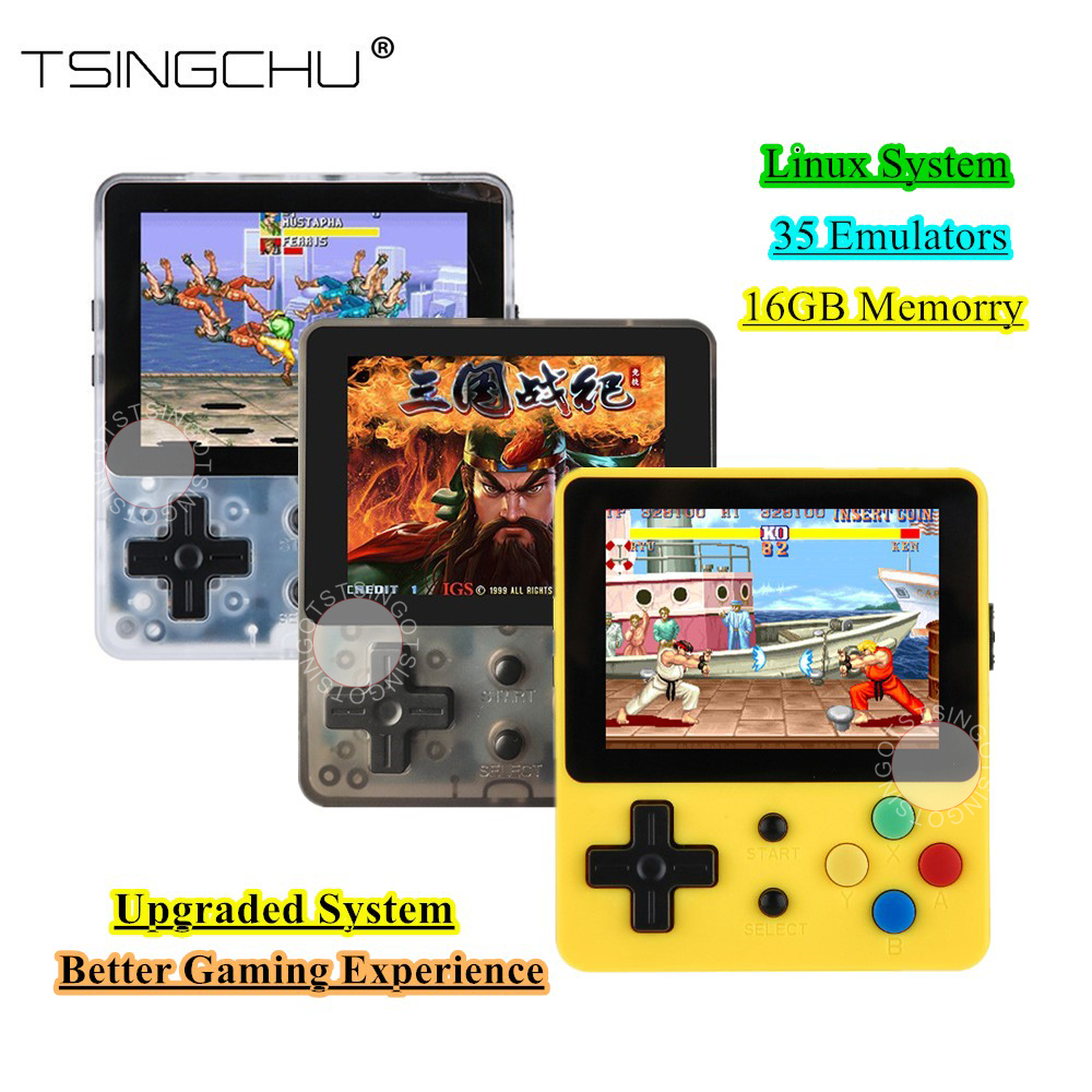 TSINGO LDK Game Console Linux System 16GB 48GB Memory 2 6inch Screen Built in 1000 Games