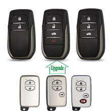 Bilchave שדרוג אינטליגנטי שלט רחוק רכב מפתח מעטפת 2/3/4 כפתורים עבור טויוטה C hr לנד קרוזר 200 avensis Auris קורולה