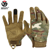 Top Full Finger Gloves Touch Screen Army Tactical Glove Paintball Airsoft Shooting Black Green Camo Soft Mittens Wearable Men
