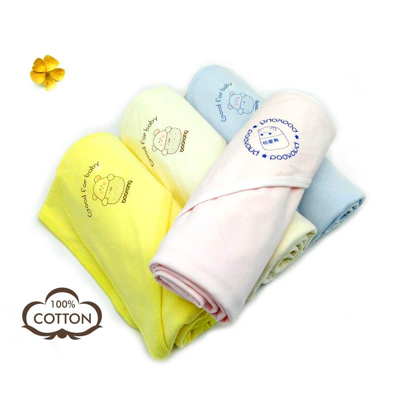 100% Cotton Baby Blankets Newborn Swaddle Wraps Bath Towel Baby Soft Warm Wool Sleeping Blanket Swaddling Bedding Beach Towels