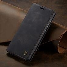 Para huawei p smart flip caso capa magnética livro suporte telefone carteira de couro para huawei p inteligente 2018 caso