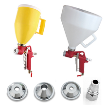 Air Hopper Cement Spray Gun Paint Texture Tool Drywall Wall Painting Sprayer with 4 Nozzle Putty Foam Coating Air Paint Sprayers