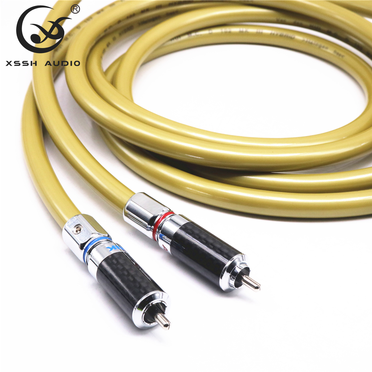 1 paire RCA vers RCA haut de gamme 2 cœurs * 2.8mm OFC OCC cuivre VDH H bouclier 8mm câble Audio RCA fil de ligne pour amplificateur de puissance lecteur CD