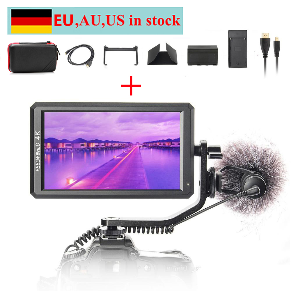 can ship from EU US AU Feelworld F6 5 7 IPS 4K HDMI Monitor for