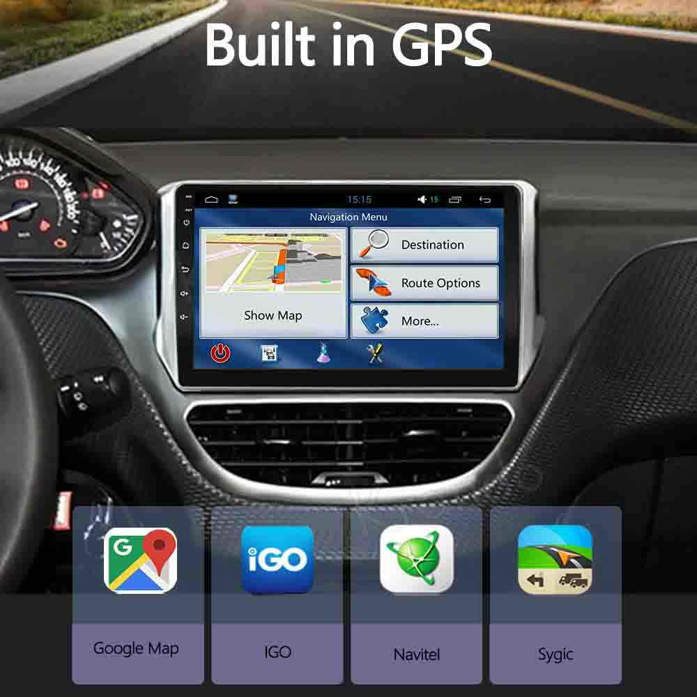"Krando Android 10.0 9 ""Ips Full Touch Auto Multimedia Radio Voor Peugeot 208 2014-2018 Audio Gps Carplay dsp Wifi Bluetooth"