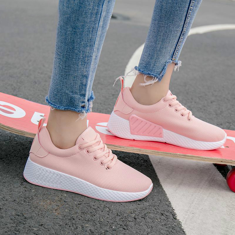 LZJ Mesh Women Breathable Tenis Feminino Lace Up Outdoor Casual Shoes Lightweight Woman Vulcanized Sneakers Women Shoes