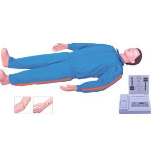 Flexible Joint Full Body CPR Training Manikin, LCD Monitor Voice CPR First aid Dummy
