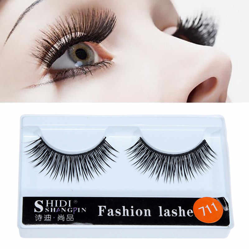 1 par 3D Natural largo ojo pestañas postizas rizado grueso estilo de Cruz pestañas falsas maquillaje para pestañas Wispy maquillaje belleza herramienta de extensión