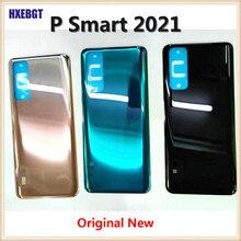 Y7a 2020 original para huawei p smart 2021 capa traseira habitação porta traseira da bateria chassi + adesivo peças de reparo
