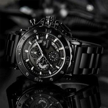 NEKTOM Men's Watches Quartz Watch Waterproof Watches Steel Strap Wristwatch Watches For Men Military Watch Clock Sports Watches 2