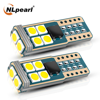 NLpearl 12V Car Signal Lamp T10 Led Canbus W5W Led Bulbs 168 194 6000K White 10SMD 3030 Chips Dome Reading License Plate Light цена 2017