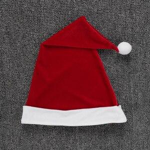 Image 5 - Crianças vermelhas Meninas Natal Vestidos de Veludo Macio Cinto de Malha de Mangas Compridas Vestido com Chapéu Definir Crianças Papai Noel Cosplay Natal vestido