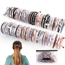 Nylonowe elastyczne opaski do włosów dla kobiet podstawowe fryzury kucyk Holder gumowe liny gumy dziewczyny Scrunchies nakrycia głowy akcesoria do włosów tanie tanio UNTAMED CASUAL CN (pochodzenie) Cztery pory roku Dla osób dorosłych WOMEN moda Nakrycie głowy Dekoracji LH1234 Stałe