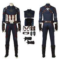 Captain America Kostüm Avengers: Unendlichkeit Krieg Cosplay Steve Rogers Deluxe Version Vollen Satz