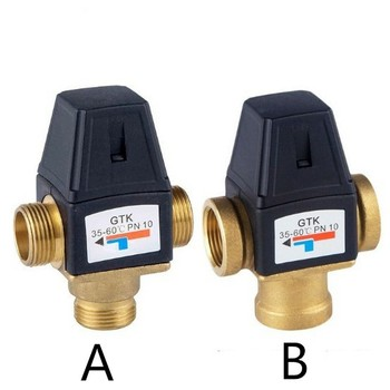 1 Male Thread 3 Way Brass Thermostatic Mixing Valve DN25 DN20 Solar Water Heater Valve 3-Way Thermostatic Mixer Valve newly brass 1 2 3 4 ceramic standard thermostatic mixing valve temperature control valve for solar water heater valve parts