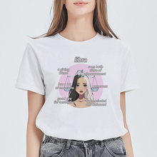 Kawaii Aesthetic Tshirt Libra Top Casual Spring Summer T shirt Women Constellati
