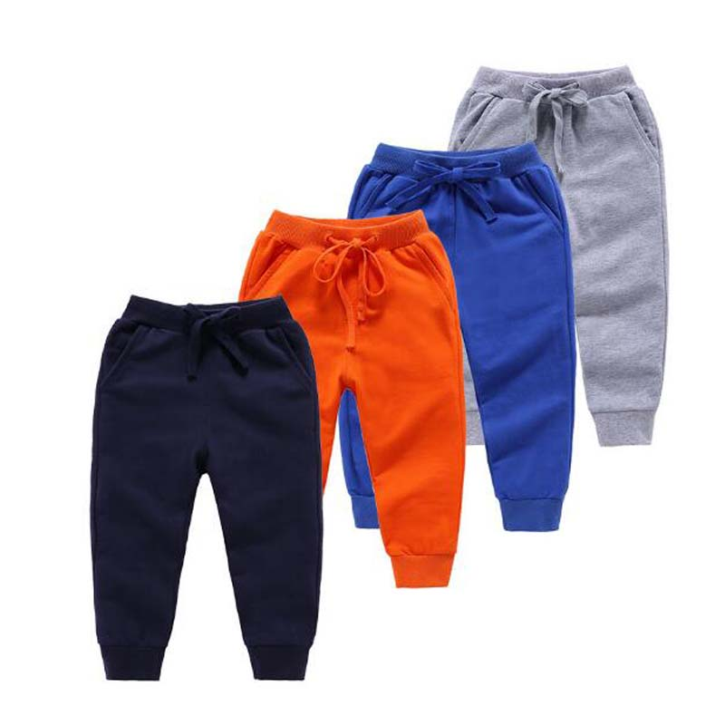 2020 Spring New Arrival Baby Clothes Children's Long Pants Fashion Pure Color Cotton Pockets Sports Boy Pants Kids Leggings