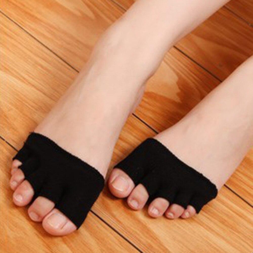 Women Non Slip High Heels Sandal Invisible Half Footie Open Toe Socks New