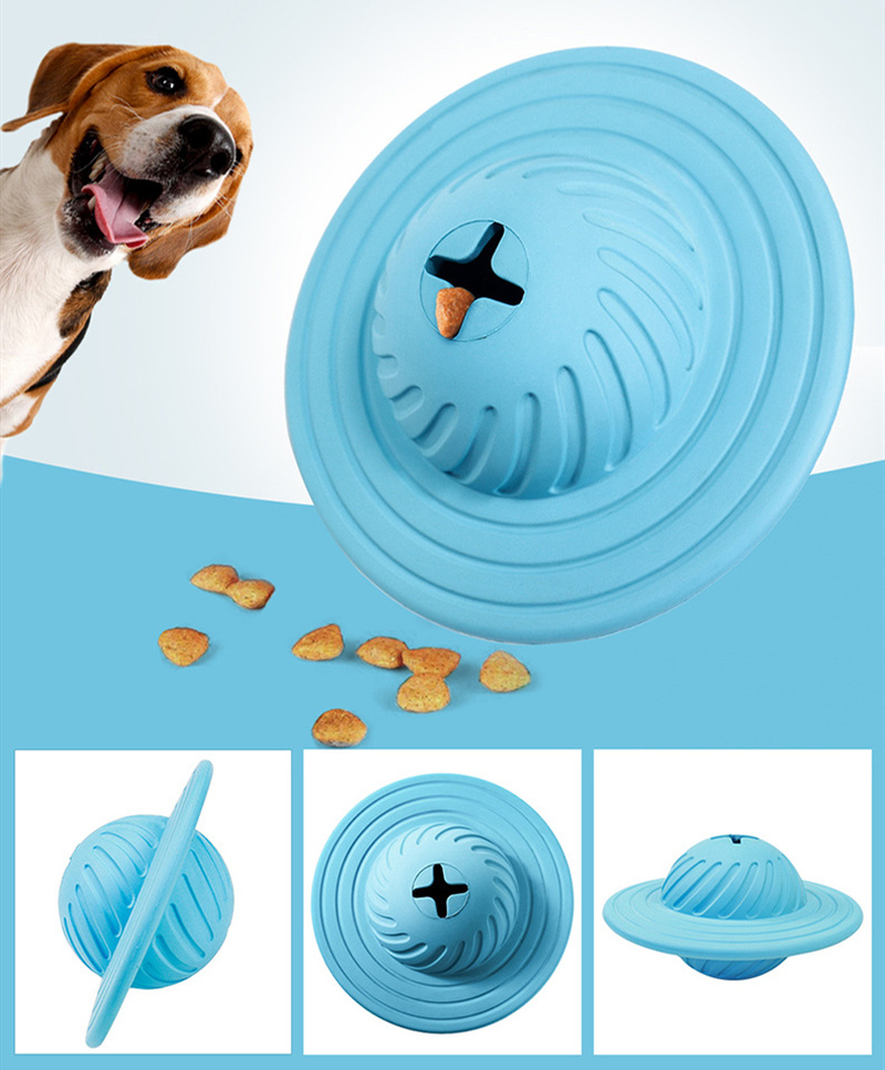 Rubber Puppy Dog Toys Rolling Flying Discs Chew Toys Leakage Food Play Dog Ball Interactive Training Pet Supplies Popular Toys