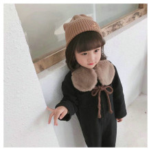 Korean Plush Wool Knit Twist Soft Warm Autumn Winter Thick Kids Children Boys Girls Cross Rings Shawls Scarves Accessories-LHC children autumn and winter warm clothes boys and girls thick cashmere sweaters