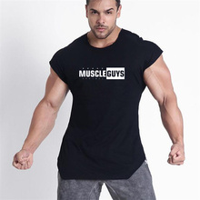 Workout Mens Bodybuilding Fitness Tank Top Sleeveless Brand Casual Shirts Hot Selling Gyms Vest Singlets