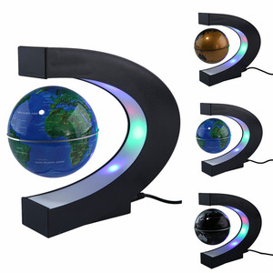 Magnetic Levitation Floating LED World Map Globe C Shape Light Antigravity Magnetive Ball Xmas Birthday Home Decoration dropship(China)