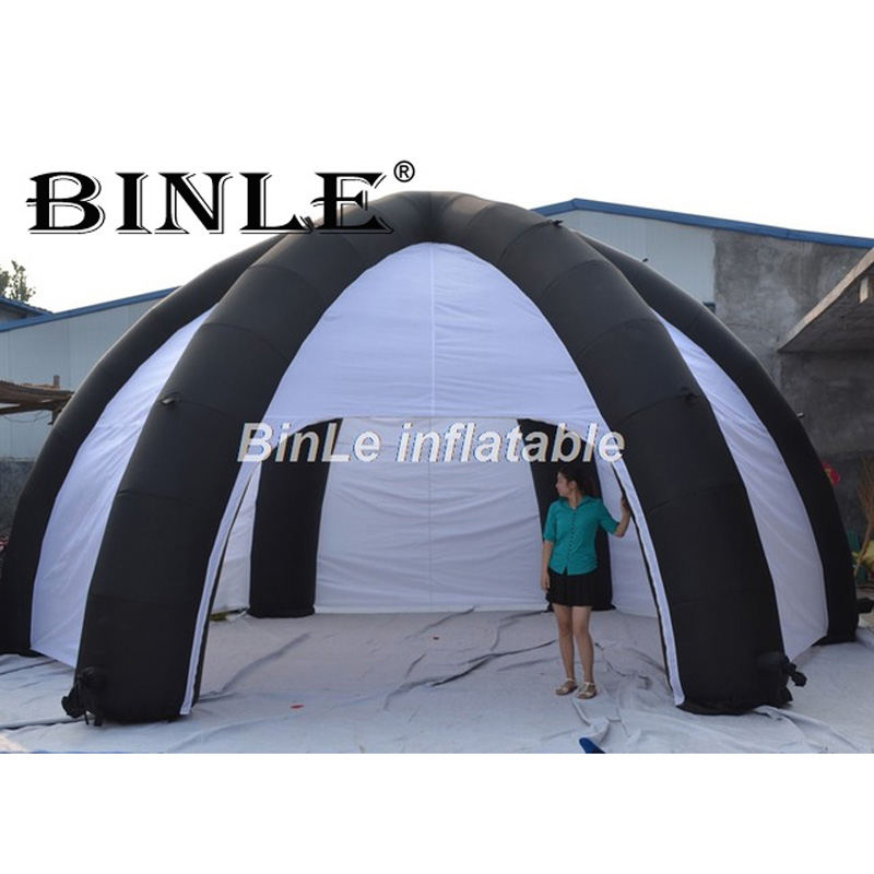 Cheap portable 6m inflatable spider <font><b>tent</b></font> dome shaped inflatable <font><b>car</b></font> <font><b>tent</b></font> <font><b>garage</b></font> <font><b>tent</b></font> with walls for sale image