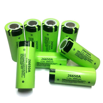 GTF 100% Original 3.7V 5000mAh Battery For Panasonic 26650A High Capacity 26650 Li-ion Rechargeable Batteries for LED flashlight image