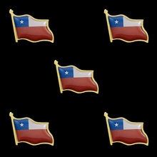 5PCS 2019 Chile National Flag Patriotic Metal Flag Lapel Pin Brooch Accessories For Clothes/bag/Hat 5pcs 2019 chile national flag patriotic metal flag lapel pin brooch accessories for clothes bag hat
