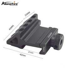 Alonefrie Y25 21 Mm Rail 45 Derajat Picatinny Weaver Adaptor Air Senapan Airsoft Menembak Pistol Taktis Lampu Laser Sight Lingkup gunung(China)