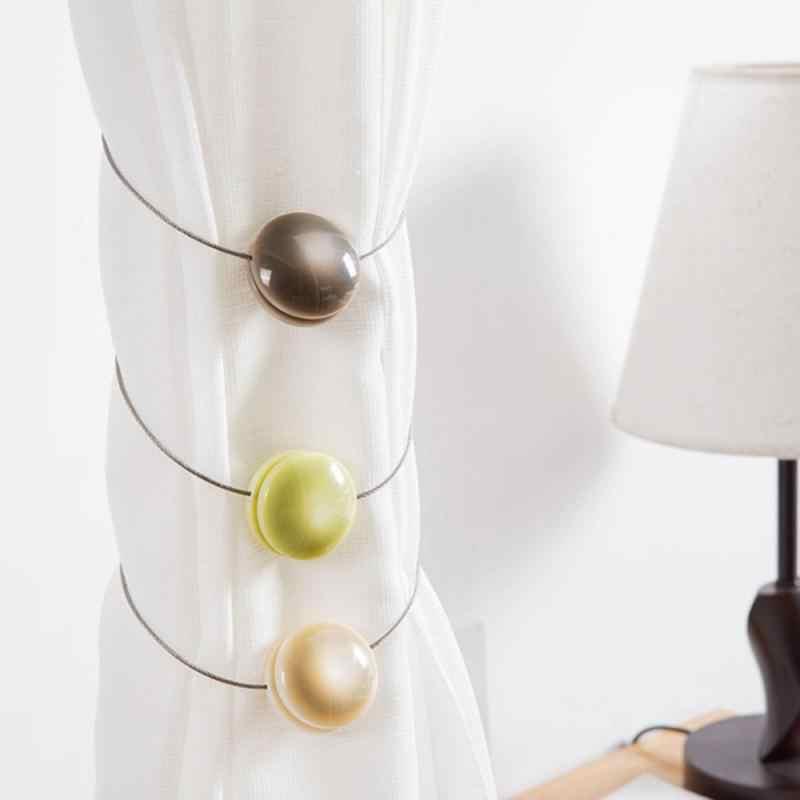 DIY Kreative Runde Magnet Vorhang Schnalle Katze-auge Harz Vorhang Spitze Vorhang Clip Retainer Hause Dekoration Zubehör Hot
