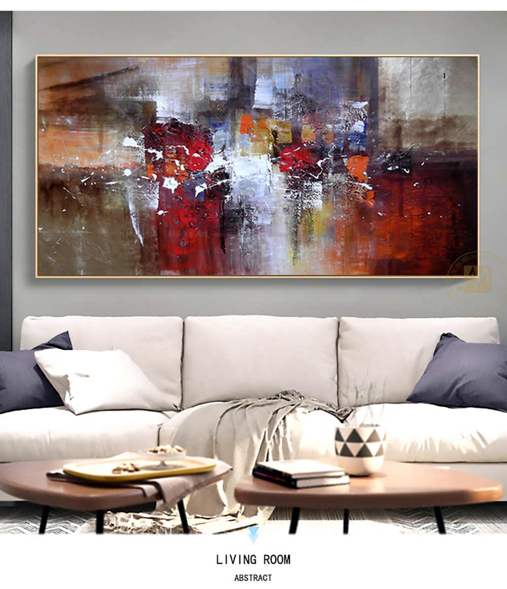 Abstract Modern large canvas wall art huge handmade oil painting decorative  canvas paintings for home decor office decoration