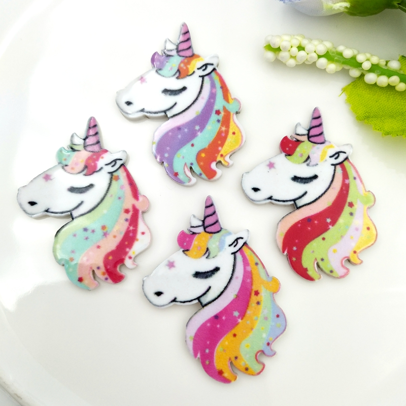 10PCS Mixed Designs Cartoon Animals Resin Flatback Cabochon For Craft Decoration