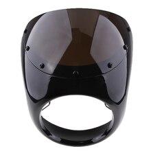 Retro Cafe Racer Style 7'' Headlight Lamp Handlebar Fairing Windshield Universal