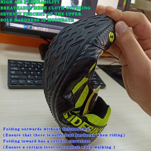 Sidebike 2 cores sapatos de ciclismo men pro team mountain road bicicleta sapatos de borracha respirável desbloqueado sapatos mtb 36-46 tamanho 5