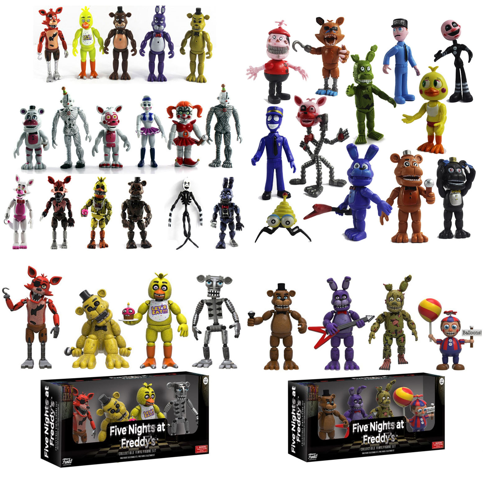 5/6/8/10/12PCS Five Nights At Freddy's Action Toy Figures Set FNAF Foxy Bonnie Freddy Fazbear Sister Model Dolls FNAF Gifts Toys
