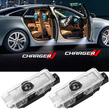 2-4 pcs For Dodge Charger Logo Door Light LED HD Letters Badge Insignia Projector Courtesy Welcome Light Shadow Ghost Lamp 12V
