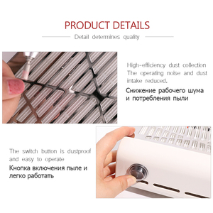 Image 3 - Bluerise 40W süpürge için manikür düşük gürültü tozsuz vakum başlık manikür tırnak toz toplayıcı tırnak tasarımı için çıkarıcı