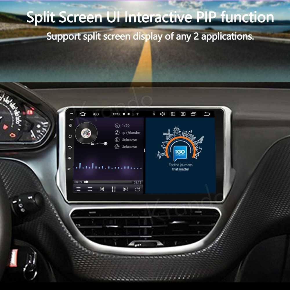 "Krando Android 10.0 9 ""IPS Full Touch Autoradio Multimediale Per Peugeot 208 2014-2018 Audio GPS Carplay DSP WIFI Bluetooth"