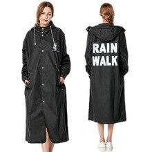 Women Rain Coat Raincoat Rainwear Men EVA Long Black Impermeable Poncho Waterproof Cape Cover Hooded 60YY010